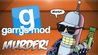 GMod Murder! - P0rn Computer 2000, Rock Paper Scissors, Do A Flip! (Garrys Mod Funny Moments)