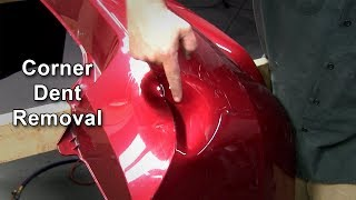 Removing A Corner Dent On A Bumper Cover
