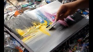 """Acrylic Abstract Painting  / Demonstration / """"R-11 By Roxer Vidal"""""""