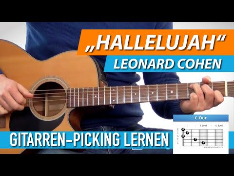 ★ HALLELUJAH ► Leonard Cohen, Jeff Buckley ► Schönes Gitarren-Picking Lernen