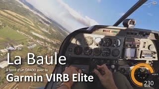 preview picture of video 'Robin DR400 décollage La Baule-Escoublac et atterrissage St-Cyr (Garmin VIRB Testeur)'