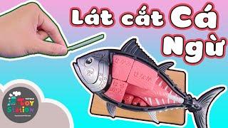 Độc và lạ bộ mô hình lát cắt thịt phổ biến cá ngừ đại dương ToyStation 426