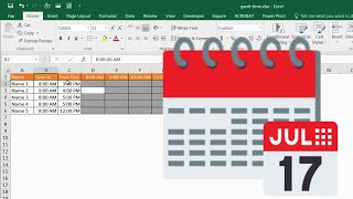 Create a Gantt Chart for Hours in a Day