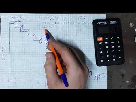 Как просто рассчитать каркас лестницы на ломаном косоуре из профильной трубы