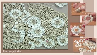 Step By Step Crochet Beautiful Composition Tutorial 33 Irish Lace And Freeform