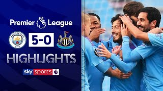 SUBSCRIBE ► http://bit.ly/SSFootballSub PREMIER LEAGUE HIGHLIGHTS ► http://bit.ly/SkySportsPLHighlights Highlights from the Premier League where David Silva reminded Manchester City fans of just what they will be missing next season as he starred in a 5-0 demolition job over Newcastle.  Watch Premier League LIVE on Sky Sports here ► http://bit.ly/WatchSkyPL ►TWITTER: https://twitter.com/skysportsfootball ►FACEBOOK: http://www.facebook.com/skysports ►WEBSITE: http://www.skysports.com/football  MORE FROM SKY SPORTS ON YOUTUBE: ►SKY SPORTS CRICKET: https://bit.ly/SubscribeSkyCricket ►SKY SPORTS BOXING: http://bit.ly/SSBoxingSub ►SOCCER AM: http://bit.ly/SoccerAMSub ►SKY SPORTS F1: http://bit.ly/SubscribeSkyF1