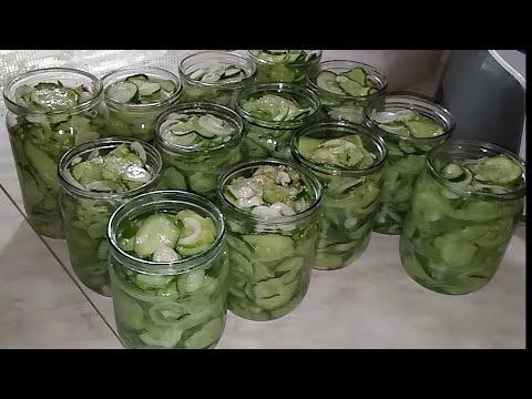 Салат из огурцов в собственном соку ХРУСТЯЩИЕ Очень вкусный салат на зиму