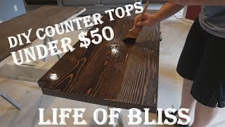 DIY Solid Wood Countertops for under $50 w/ 2x10 Lumber
