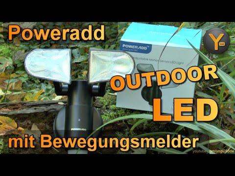 Review: Poweradd Outdoor LED-Lampe mit Bewegungmelder und vielen Einstellungen