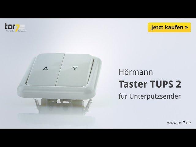 Produktvideo Hörmann Innentaster TUPS 2 für Unterputzsender