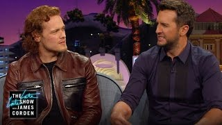 Sam Heughan dans The Late Late Show with James Corden le 31/03/16 - Extrait 2
