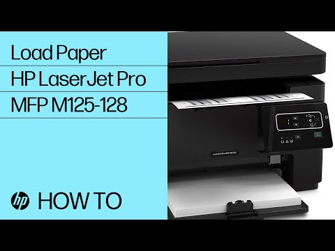 Loading Paper in an HP LaserJet Pro MFP M125-128 Printer Series