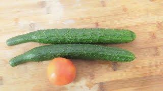 2根黄瓜,1个西红柿,教你独家秘制新吃法,全家人都爱吃