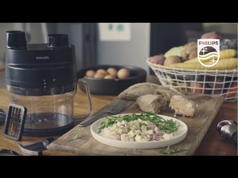 ProMix Hand blender: Delicious Salad Olivier in seconds with the Cube Cutter | Philips
