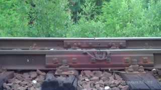 preview picture of video '[Linia 75] Praca + dźwięki toru stykowego pod ciężkim pociągiem towarowym w kilometrze 0+300'