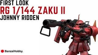 First Look: RG 1/144 Zaku II High Mobility Johnny Ridden (OOB)