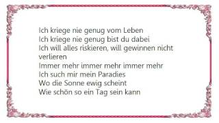 Christina Stürmer - Nie Genug Lyrics