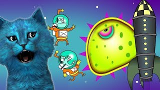 ХИЩНЫЙ СЛИЗЕНЬ #5 в КОСМОСЕ космонавты в ШОКЕ Игра про слизь КОТЁНОК ЛАЙК Mutant Blobs Attack