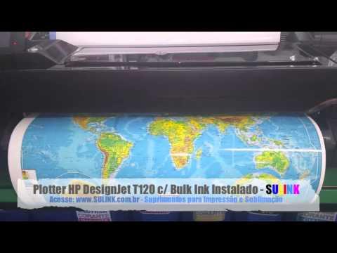 Plotter HP DesignJet T120 com Bulk Ink (Demonstração) T520 - SULINK