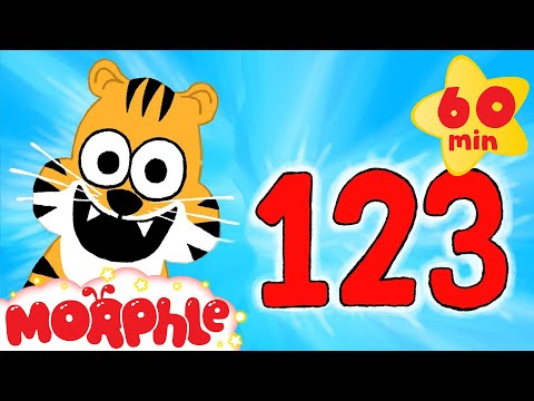 Learn to Count to 10 With Cute Animals | Learn Numbers with Morphle + 1 hour kids compilation