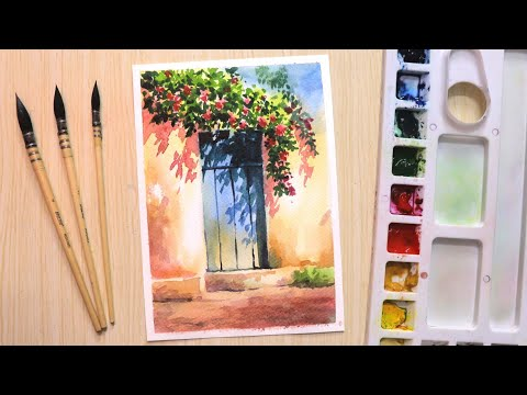 watercolor painting for beginners by shiba