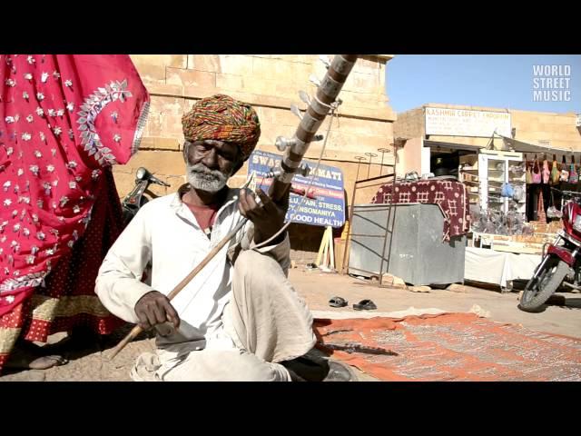 Indian Ravanhatta Street Musician (Rajasthan, Jaisalmer) HD