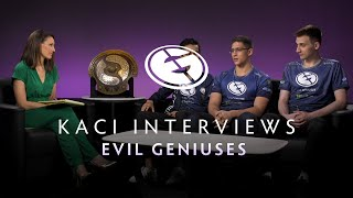 Evil Geniuses Interview with Kaci - The International 2019