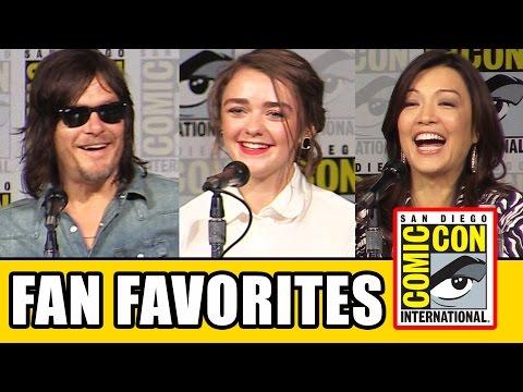 Fan Favorites Comic Con Panel - Maisie Williams, Norman Reedus, Eliza Taylor, Ming-Na Wen | MTW