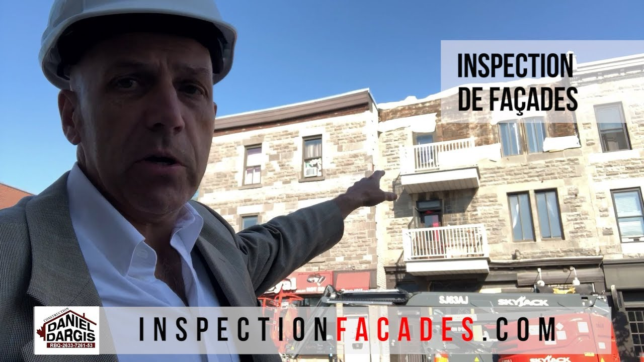 Inspection de façades de bâtiments par un ingenieur en structure - Daniel Dargis ing à Montréal