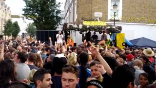 preview picture of video 'Notting Hill Carnival Bank Holiday Monday 2012: Pineapple Tribe dropping Valley of the Shadows'