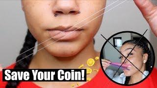 DIY Upper Lip Threading At HOME In Under 5 Minutes