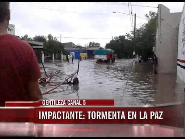 Impresionantes imágenes del temporal de La Paz