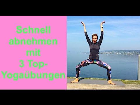 Schnell abnehmen mit 3 Top-Yogaübungen