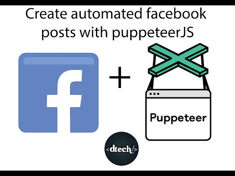 Facebook posting web-bot with PuppeteerJS and NODEJS