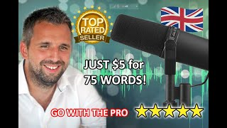 I will record a professional british voiceover