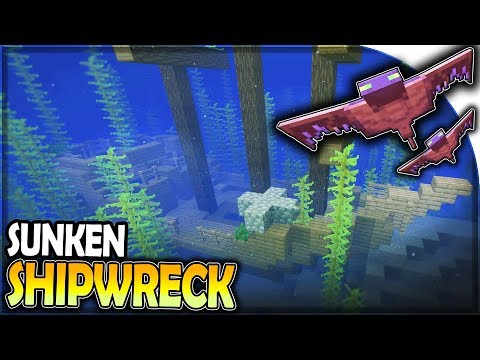 SUNKEN SHIP WRECK + PHANTOM AMBUSH (Rare Loot) - Minecraft Survival Part 3
