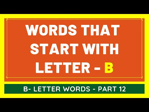 #12 NEW Words That Start With B | List of Words Beginning With B Letter [VIDEO]