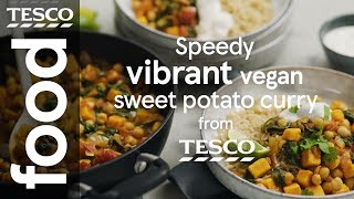 Speedy vegan sweet potato and chickpea curry
