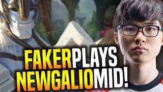 Faker Wants to Play New Galio Mid! - SKT T1 Faker SoloQ Playing Galio Midlane | SKT T1 Replays