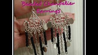 DIY Totally Cute Beaded Chandelier Earrings