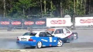 preview picture of video 'Super Drift Series 2009 Runda 1 - Tor Kielce, zawody'