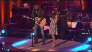 Billy Ray Cyrus & Miley Cyrus -  Get ready, get set, don't go (Live)