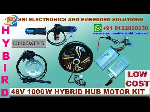48V 1000W Scooty Hub Motor Kit 10 Inch with Disc Brake