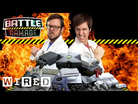 Video Game Console Drop Test - Xbox Vs Playstation Vs Nintendo Vs Sega | WIRED's Battle Damage
