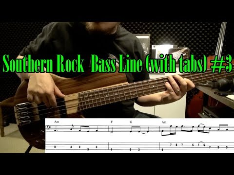 Easy Southern Rock  Bass Line (with tabs) #3