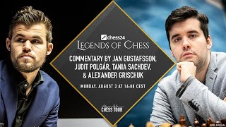 $150,000 Chess24 Legends Of Chess | Final Day 1 | Carlsen Vs Nepomniachtchi