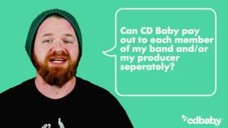 Can CD Baby pay out to each member of my band separately?