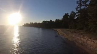 Beautiful Lake Superior at Sunset Video