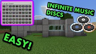 SIMPLE 1.16 MUSIC DISC FARM TUTORIAL in Minecraft Bedrock (MCPE/Xbox/PS4/Nintendo Switch/Windows10)