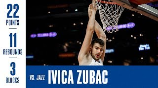 Ivica Zubac Double-Double Vs. Jazz | 4/10